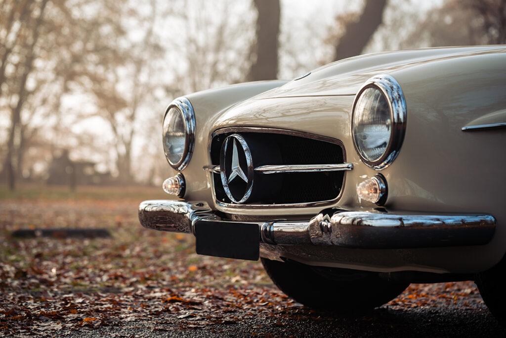 Mercedes-Benz 190 SL W121 neus detail